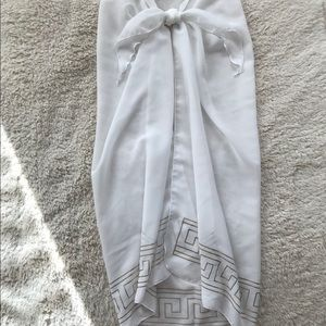 Venus Swimwear White Long Sarong - NWOT